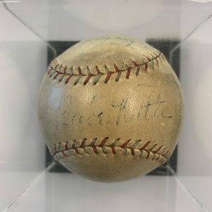 Babe Ruth hand signed autographed baseball Rare